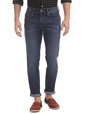 Arvind Slim Fit Stone Washed Jeans