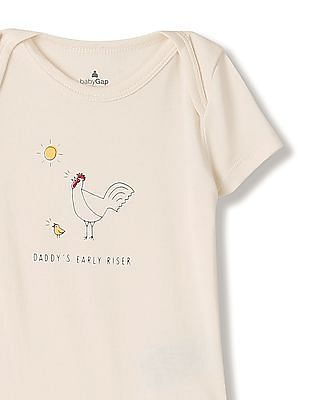 GAP Baby White Family Graphic Bodysuit