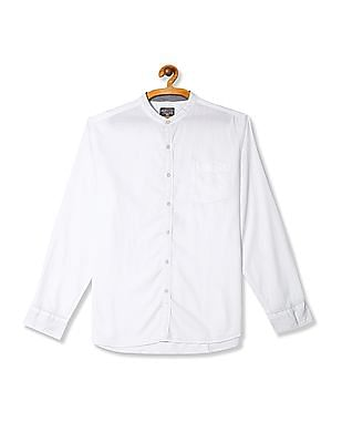 Flying Machine Regular Fit Solid Shirt
