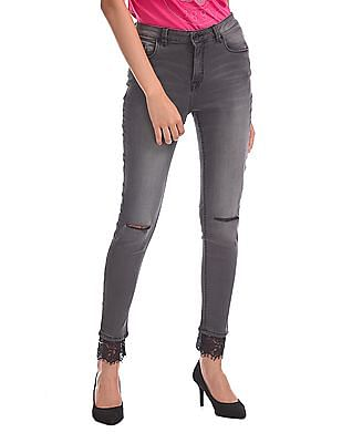U.S. Polo Assn. Women Skinny Fit High Waist Jeans