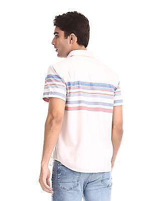 Aeropostale Slim Fit Striped Shirt