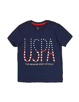 U.S. Polo Assn. Kids Boys Printed Front T-Shirt