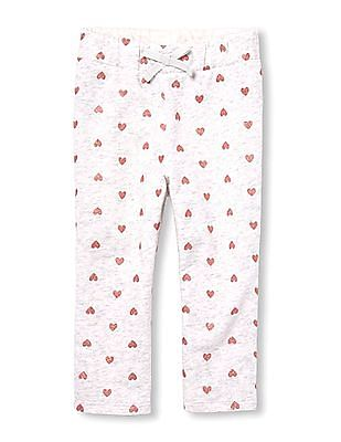 The Children's Place Toddler Girl Active Glitter Print Knit Sweatpants
