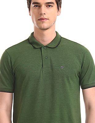 Ruggers Green Tipped Pique Polo Shirt