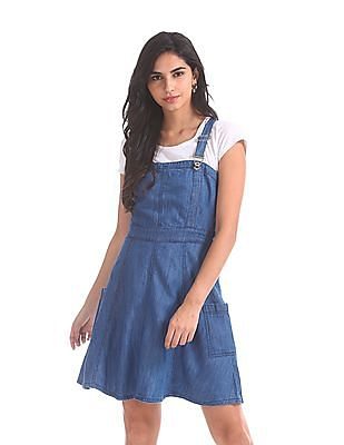 Buy Cherokee by Unlimited Chambray Dungaree Dress - NNNOW.com