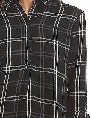 U.S. Polo Assn. Women Full Sleeve Checked Shirt