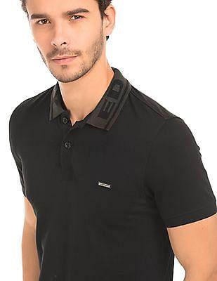 Ed Hardy Contrast Collar Regular Fit Polo Shirt
