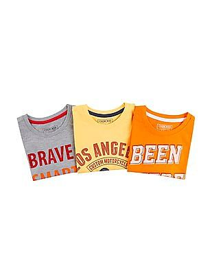 Cherokee Boys Printed T-Shirt - Pack Of 3