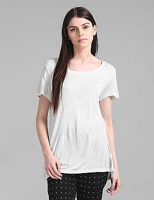 GAP Polka Dot Print High-Low T-Shirt