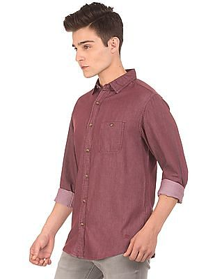 Aeropostale Solid Regular Fit Shirt