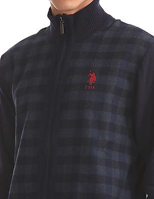 U.S. Polo Assn. Zip Up Wool Blend Sweater