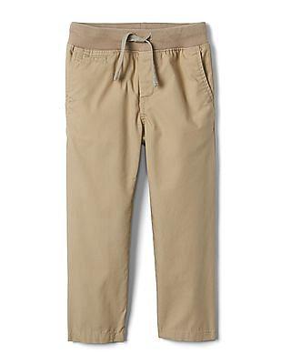 GAP Boys Beige Everyday Pull On Khakis