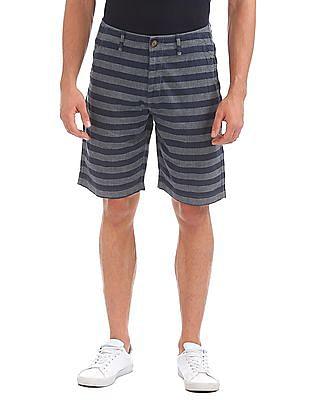 Aeropostale Striped Chambray Shorts