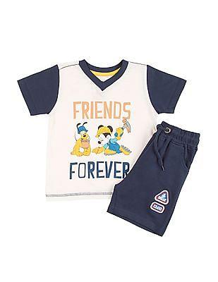 Colt Boys Mickey Mouse Print T-Shirt And Shorts Set