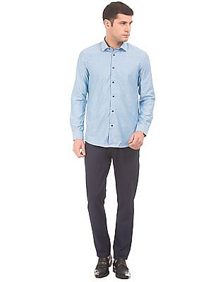 Arrow Newyork French Placket Patterned Shirt