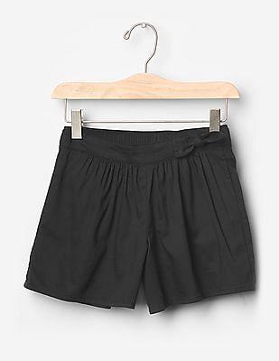 GAP Girls Black Knot Bow Soft Shorts