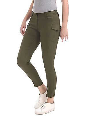 Cherokee Flat Front Solid Trousers