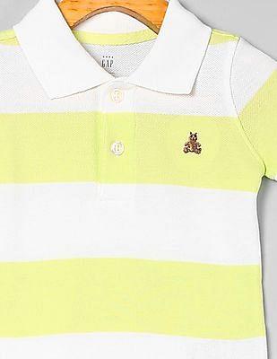 GAP Baby Stripe Short Sleeve Polo Bodysuit