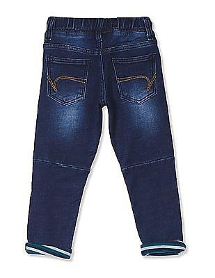 Cherokee Blue Boys Drawstring Waist Stone Wash Jeans
