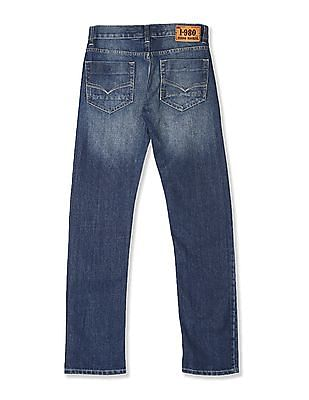 Flying Machine Blue Prince Slim Fit Stone Wash Jeans