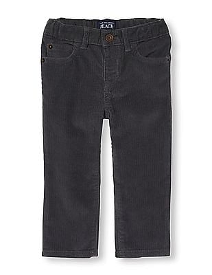 The Children's Place Toddler Boy Grey 5-Pocket Skinny Corduroy Trousers