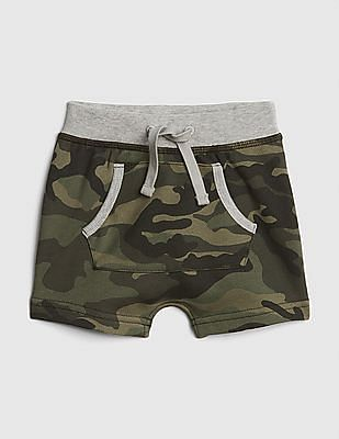 GAP Baby Camo Pull-On Shorts In French Terry