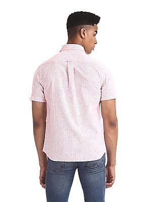 U.S. Polo Assn. White Floral Print Cotton Shirt