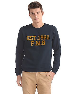 Flying Machine Slim Fit Printed Sweatshirt