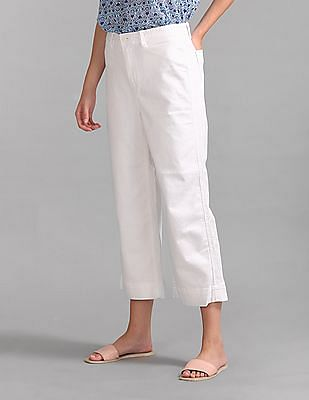 GAP High Rise Wide-Leg Crop Chinos