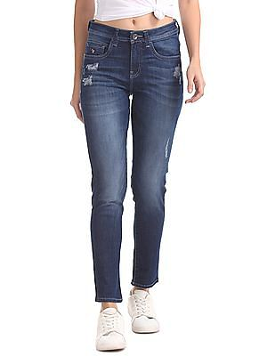 U.S. Polo Assn. Women Skinny Mid Rise Jeans