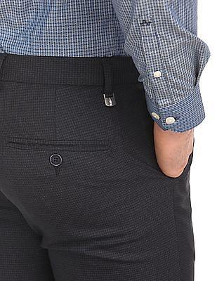 Arrow Newyork Patterned Slim Fit Trousers