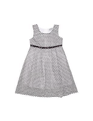 Cherokee Girls Chevron Print Empire Waist Dress