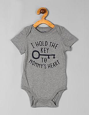 GAP Baby Grey Short Sleeve Heathered Bodysuit