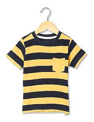 Cherokee Boys Short Sleeves Striped T-shirt