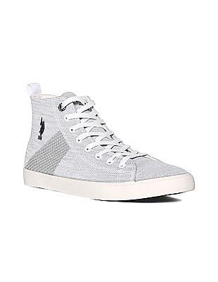 U.S. Polo Assn. Grey High Top Knit Sneakers