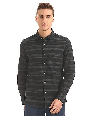 Flying Machine Striped Twill Shirt