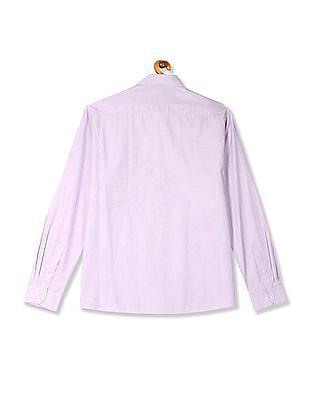 Excalibur Purple Cutaway Collar Regular Fit Shirt