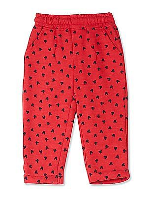 Colt Red Boys Mickey Mouse Graphic Track Pants