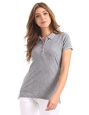 555dbe271 Buy Women Regular Fit Printed Polo Shirt online at NNNOW.com