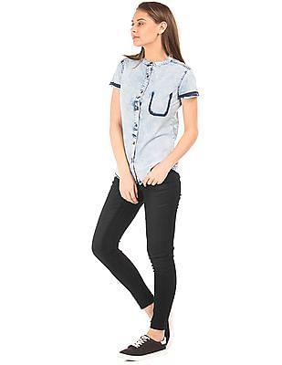 EdHardy Women Coated Skinny Jeans