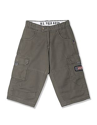 U.S. Polo Assn. Boys Cotton Twill Cargo Trousers