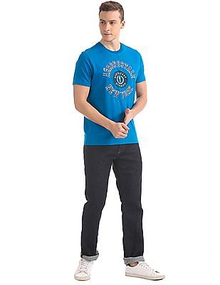 Aeropostale Contrast Applique Crew Neck T-Shirt