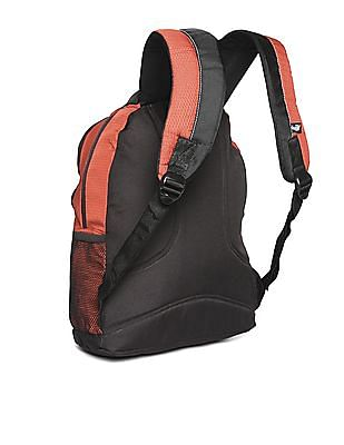 Flying Machine Printed Textured Backpack