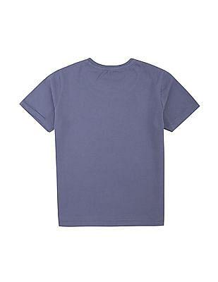 FM Boys Boys Shark Print Crew Neck T-Shirt