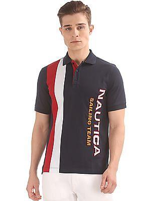 Nautica Colour Blocked Classic Fit Polo Shirt