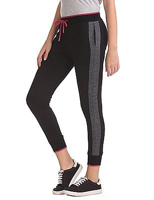 SUGR Drawstring Waist Panelled Joggers