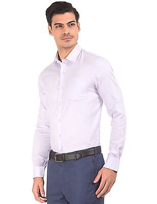 Arrow Slim Fit Jacquard Shirt