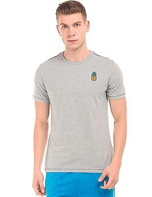 Aeropostale Heathered Round Neck T-Shirt