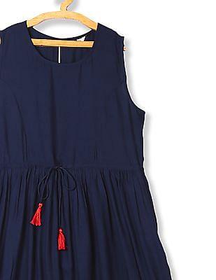 Bronz Printed Hem Maxi Dress