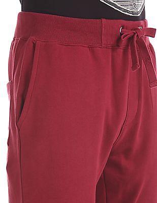 U.S. Polo Assn. Denim Co. Red Drawstring Waist Knit Joggers